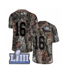 Men's Nike Los Angeles Rams #16 Jared Goff Camo Rush Realtree Limited Super Bowl LIII Bound NFL Jersey