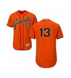 Men's San Francisco Giants #13 Will Smith Orange Alternate Flex Base Authentic Collection Baseball Jersey