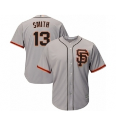 Men's San Francisco Giants #13 Will Smith Replica Grey Road 2 Cool Base Baseball Jersey