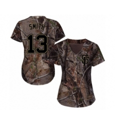Women's San Francisco Giants #13 Will Smith Authentic Camo Realtree Collection Flex Base Baseball Jersey