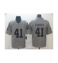 Men's New Orleans Saints #41 Alvin Kamara Limited Gray Rush Gridiron Football Jersey