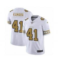 Men's New Orleans Saints #41 Alvin Kamara White Team Logo Cool Edition Jersey