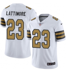 Youth Nike New Orleans Saints #23 Marshon Lattimore Limited White Rush Vapor Untouchable NFL Jersey