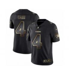 Men Oakland Raiders #4 Derek Carr Black Golden Edition 2019 Vapor Untouchable Limited Jersey