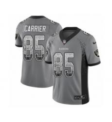 Men's Nike Oakland Raiders #85 Derek Carrier Limited Gray Rush Drift Fashion NFL Jersey