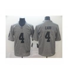 Men's Oakland Raiders #4 Derek Carr Limited Gray Rush Gridiron Football Jersey