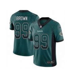 Men's Nike Philadelphia Eagles #99 Jerome Brown Limited Green Rush Drift Fashion NFL Jersey