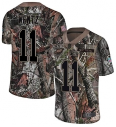 Men's Nike Philadelphia Eagles #11 Carson Wentz Camo Rush Realtree Limited NFL Jersey