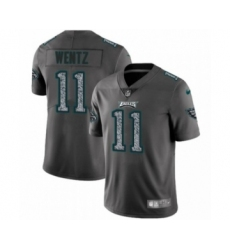 Men's Philadelphia Eagles #11 Carson Wentz Limited Gray Static Fashion Limited Football Jersey