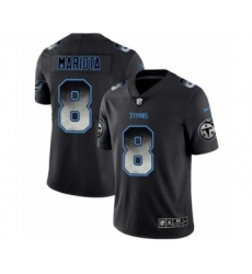 Men Tennessee Titans #8 Marcus Mariota Black Smoke Fashion Limited Jersey