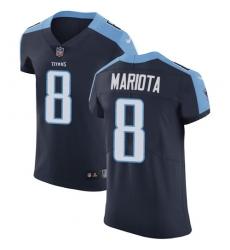 Men's Nike Tennessee Titans #8 Marcus Mariota Navy Blue Alternate Vapor Untouchable Elite Player NFL Jersey