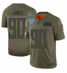 Men's Tennessee Titans #90 DaQuan Jones Limited Camo 2019 Salute to Service Football Jersey