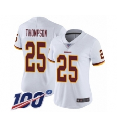 Women's Washington Redskins #25 Chris Thompson White Vapor Untouchable Limited Player 100th Season Football Jersey