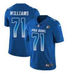 Women's Nike Washington Redskins #71 Brandon Scherff Limited Royal Blue 2018 Pro Bowl NFL Jersey