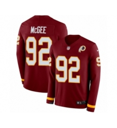 Men's Nike Washington Redskins #92 Stacy McGee Limited Burgundy Therma Long Sleeve NFL JerseyMen's Nike Washington Redskins #92 Stacy McGee Limited Burgund