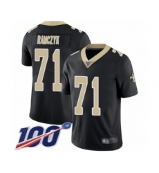 Men's New Orleans Saints #71 Ryan Ramczyk Black Team Color Vapor Untouchable Limited Player 100th Season Football Jersey