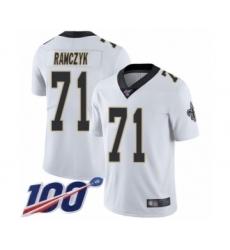 Men's New Orleans Saints #71 Ryan Ramczyk White Vapor Untouchable Limited Player 100th Season Football Jersey