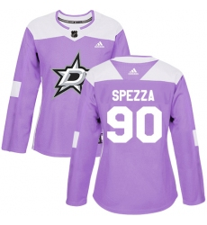 Women's Adidas Dallas Stars #90 Jason Spezza Authentic Purple Fights Cancer Practice NHL Jersey