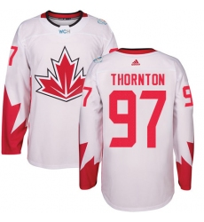 Youth Adidas Team Canada #97 Joe Thornton Authentic White Home 2016 World Cup Hockey Jersey