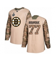 Men's Boston Bruins #77 Ray Bourque Authentic Camo Veterans Day Practice 2019 Stanley Cup Final Bound Hockey Jersey