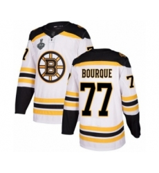 Men's Boston Bruins #77 Ray Bourque Authentic White Away 2019 Stanley Cup Final Bound Hockey Jersey
