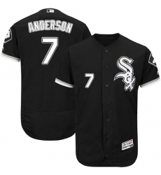 Men's Majestic Chicago White Sox #7 Tim Anderson Black Flexbase Authentic Collection MLB Jersey
