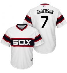 Men's Majestic Chicago White Sox #7 Tim Anderson Replica White 2013 Alternate Home Cool Base MLB Jersey