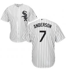 Men's Majestic Chicago White Sox #7 Tim Anderson Replica White Home Cool Base MLB Jersey
