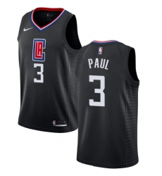 Women's Nike Los Angeles Clippers #3 Chris Paul Authentic Black Alternate NBA Jersey Statement Edition