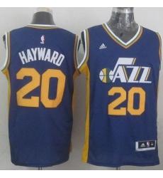 Revolution 30 Jazz #20 Gordon Hayward Navy Blue Stitched NBA Jersey