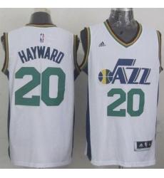 Revolution 30 Jazz #20 Gordon Hayward White Stitched NBA Jersey