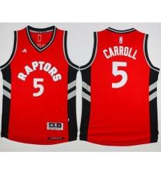 Raptors #5 DeMarre Carroll Red Stitched NBA Jersey