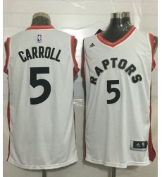 Raptors #5 DeMarre Carroll White Stitched NBA Jersey