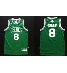 Revolution 30 Celtics #8 Jeff Green Green Stitched NBA Jers