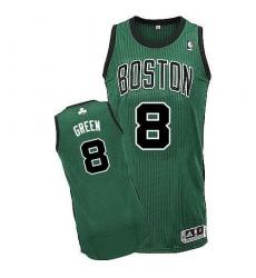 Revolution 30 Celtics #8 Jeff Green Green(Black No.) Stitched NBA Jersey