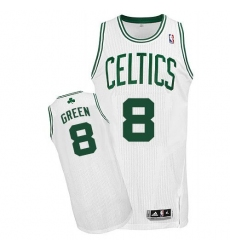 Revolution 30 Celtics #8 Jeff Green White Stitched NBA Jerseyey