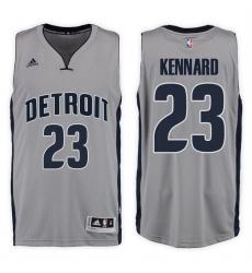 Detroit Pistons #23 Luke Kennard Alternate Gray New Swingman Stitched NBA Jersey