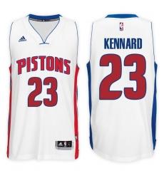 Detroit Pistons #23 Luke Kennard Home White New Swingman Stitched NBA Jersey