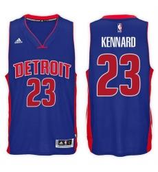 Detroit Pistons #23 Luke Kennard Road Blue New Swingman Stitched NBA Jersey
