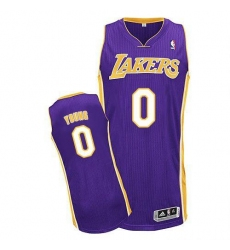 Revolution 30 Lakers #0 Nick Young Purple Stitched NBA Jersey