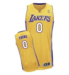 Revolution 30 Lakers #0 Nick Young Yellow Stitched NBA Jersey