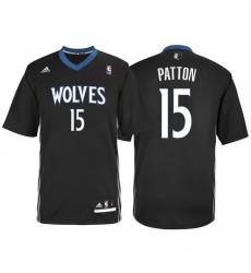 Minnesota Timberwolves #15 Justin Patton Alternate Black New Swingman Stitched NBA Jersey