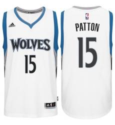 Minnesota Timberwolves #15 Justin Patton Home White New Swingman Stitched NBA Jersey