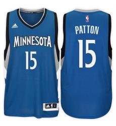 Minnesota Timberwolves #15 Justin Patton Road Blue New Swingman Stitched NBA Jersey