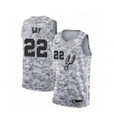 Men's San Antonio Spurs #22 Rudy Gay White Swingman Jersey - Earned Edition