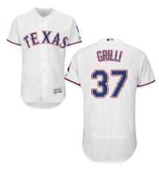 Men's Majestic Texas Rangers #37 Jason Grilli White Flexbase Authentic Collection MLB Jersey