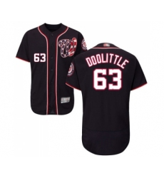 Men's Washington Nationals #63 Sean Doolittle Navy Blue Alternate Flex Base Authentic Collection Baseball Jersey