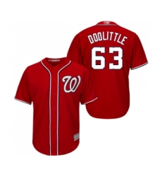 Men's Washington Nationals #63 Sean Doolittle Replica Red Alternate 1 Cool Base Baseball Jersey