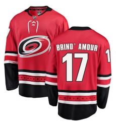 Youth Carolina Hurricanes #17 Rod Brind'Amour Fanatics Branded Red Home Breakaway NHL Jersey