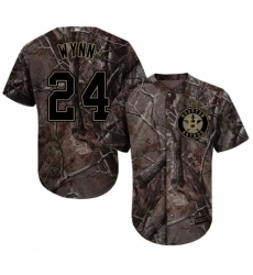 Men's Majestic Houston Astros #24 Jimmy Wynn Authentic Camo Realtree Collection Flex Base MLB Jersey